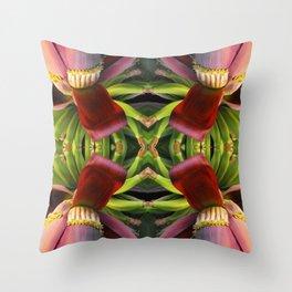 Banana Flower Pattern Throw Pillow