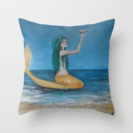 Mystical  Mermaid  Throw Pillow
