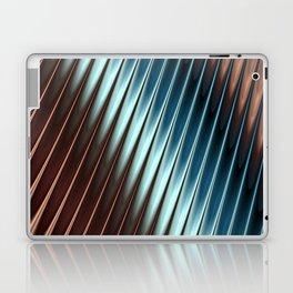 Stripey Pins Teal & Taupe - Fractal Art Laptop & iPad Skin