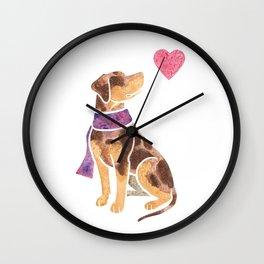 Watercolour Catahoula Leopard Dog Wall Clock