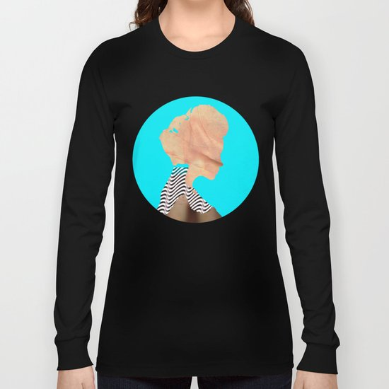 A strange kind of woman · the blue one · Crop Circle Long Sleeve T-shirt