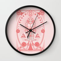 putin Wall Clocks featuring Raph Pizza Jam  by Josh Ln