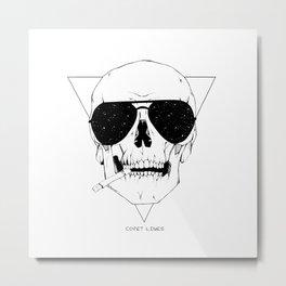 Smokes & Skulls Metal Print