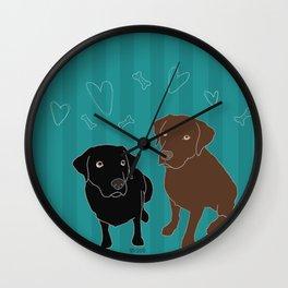 Retriever ChocoBlack Wall Clock
