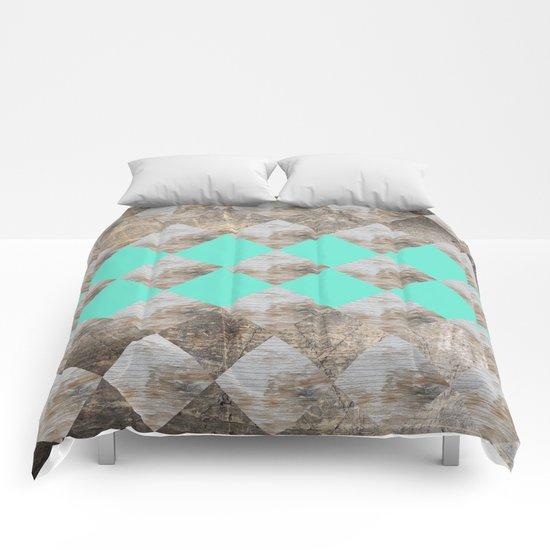 GeometricWood Comforters