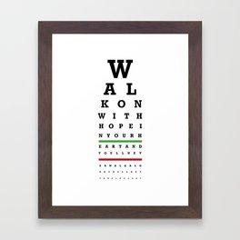 Eye Chart - Liverpool FC - You'll Never Walk Alone Framed Art Print