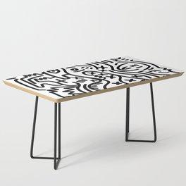 Graffiti Street Art Black and White Coffee Table