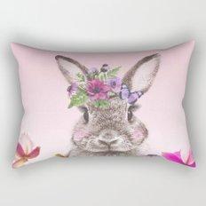 Bunny with flowers Rectangular Pillow