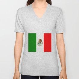Flag of Mexico Unisex V-Neck