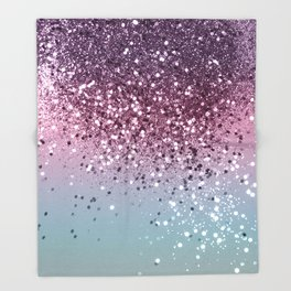 Unicorn Girls Glitter #6 #shiny #pastel #decor #art #society6 Throw Blanket