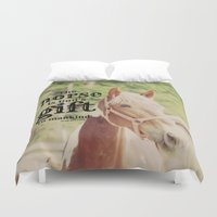 arab Duvet Covers featuring Horse Quote Arab proverb by KimberosePhotography