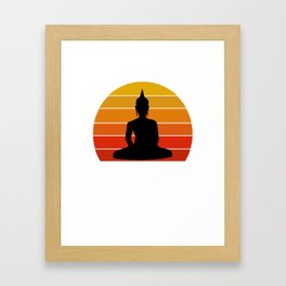 Vaporware Buddha Framed Art Print