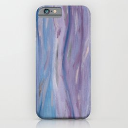 Touching Purple Blue Watercolor Abstract #2 #painting #decor #art #society6 iPhone Case
