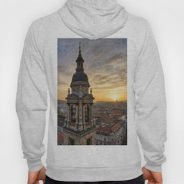 Golden sunset over Budapest Hoody