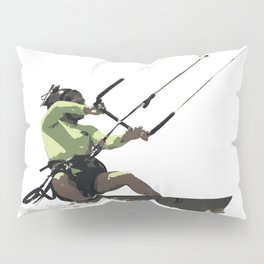 Going With The Wind Kiteboarding Vector Pillow Sham