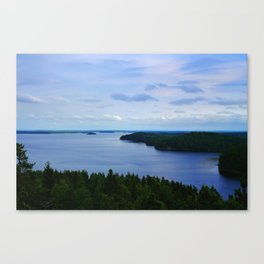 Summer Finnish Lakeland Canvas Print