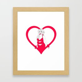 THE HEART SHE HOLLERS Framed Art Print