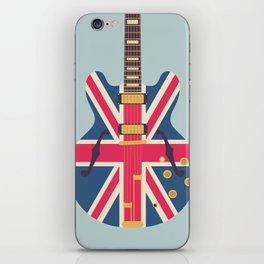 Union Jack Flag Guitar - Slate iPhone Skin