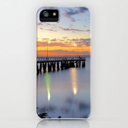 Wellington Point Jetty Sunrise iPhone Case