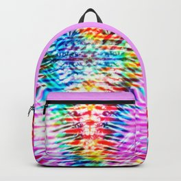 Crumpled Rainbow V Tie Dye Backpack