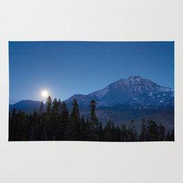 Moon Rising Over North Sister Rug