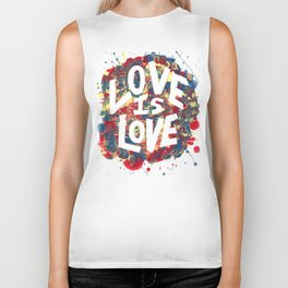 Love Is Love Rainbow Splatter Biker Tank