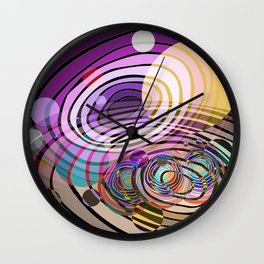 Outer Limit - Purple Wall Clock
