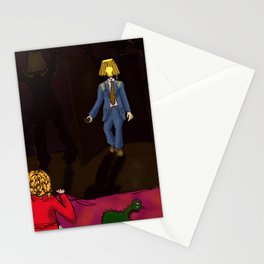 Lampshade Man Fright Stationery Cards