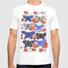 Butterflies Butterflies White Mens Fitted Tee MEDIUM
