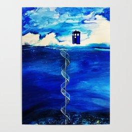 Tardis And Cloud Poster