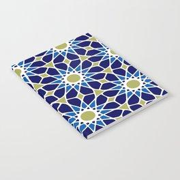 Blue & Green Mosaic Pattern Notebook