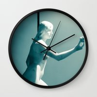 apple Wall Clocks featuring Apple by Sébastien BOUVIER