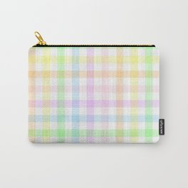 Rainbow Gingham Carry-All Pouch