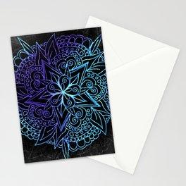 Mandala Purple & Cyan Stationery Cards