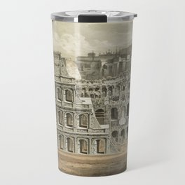 Vintage Illustration of The Roman Colosseum (1872) Travel Mug