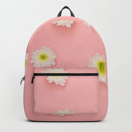 Flowers on Pink Backpack