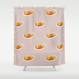 What I miss the most: Food Pattern Shower Curtain