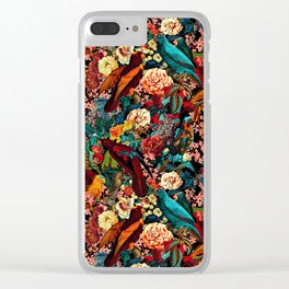 FLORAL AND BIRDS XVII Clear iPhone Case