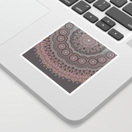 Mandala Spirit, Rose Pink, Gray Sticker