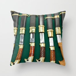 Shashka is  kind of russian sabre Throw Pillow
