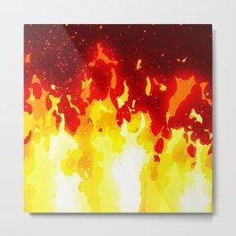 Cartoon fire Metal Print