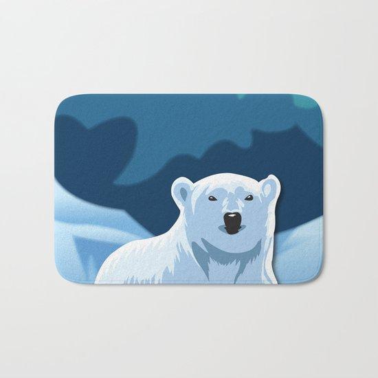 Lonely Polar Bear Bath Mat