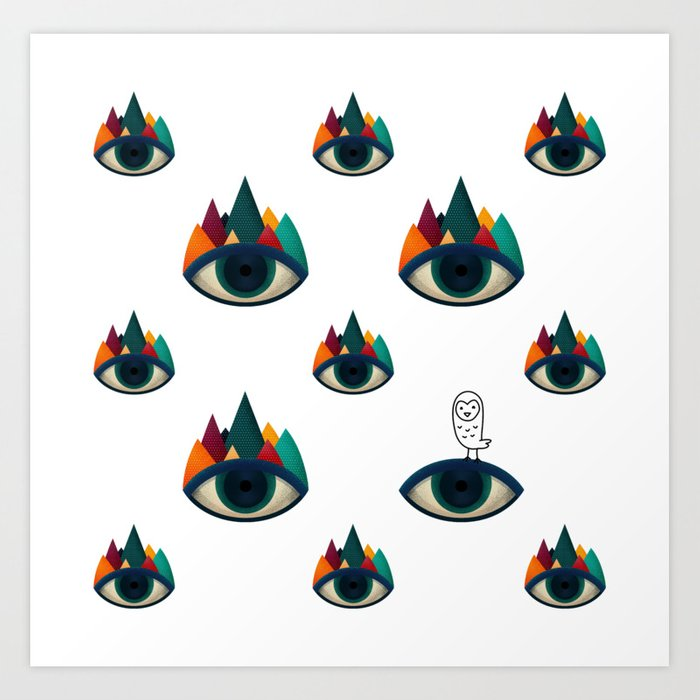 069 - I've seen it owl eyes pattern Art Print
