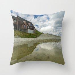 Coronet Peak Road reflections exploring a Queenstown summer Throw Pillow