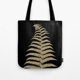 Fern Leaf Gold on Black #1 #ornamental #decor #art #society6 Tote Bag