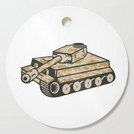 World War Two Panzer Tank Retro Cutting Board
