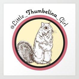 Little Thumbelina Girl: meerkat circle Art Print