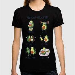 New Year's Resolutions with Avocado T-shirt
