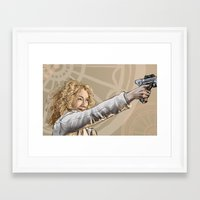 river song Framed Art Prints featuring River Song by Celina Hulshof