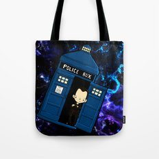 Tardis in space Doctor Who 9 Tote Bag